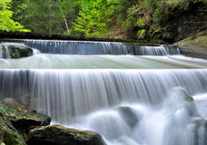 Waterfall. In the national park Sumava-Czech Republic Stock Photography