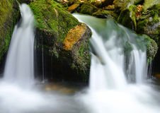 Waterfall in the national park Sumava Stock Images