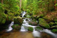 Waterfall in the national park Sumava Royalty Free Stock Photography