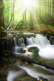 Waterfall in the national park Sumava-Germany Royalty Free Stock Image