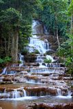 Waterfall in national park, Tak province, Thailand. Stock Photos