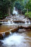 Waterfall in national park, Tak province, Thailand. Royalty Free Stock Images