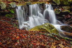 Waterfall in the natural park Montseny, Barcelona, Spain Stock Photography