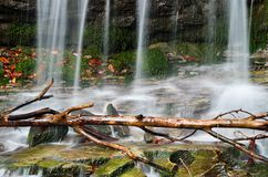 Waterfall in the natural park Stock Image