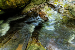 Waterfall. Natural sources of forest conservation in Thailand royalty free stock images