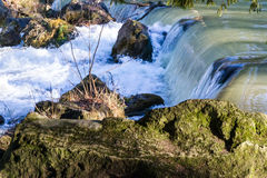 Waterfall in nature in daylight Royalty Free Stock Photo