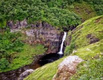 Waterfall, Nature, Nature Reserve, Vegetation stock image