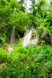 Waterfall in nature park, Thailand stock photography