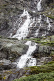 Waterfall nature and travel background,Norway Stock Photo