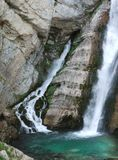 Waterfall near Bohinj Stock Photography