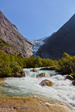 Waterfall near Briksdal glacier - Norway Stock Photos