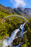 Waterfall near Briksdal glacier - Norway Royalty Free Stock Photography