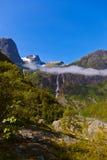 Waterfall near Briksdal glacier - Norway Royalty Free Stock Photography