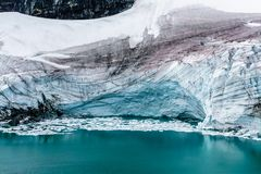 Glacier in the Mountains of Norway stock photography