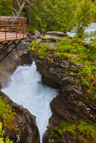 Waterfall near Geiranger fjord - Norway Royalty Free Stock Photo