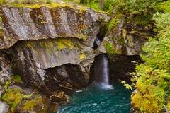 Waterfall near Geiranger fjord - Norway Stock Image