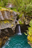 Waterfall near Geiranger fjord - Norway stock photos