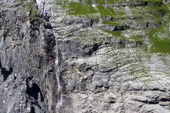Waterfall near Grindelwald Royalty Free Stock Image