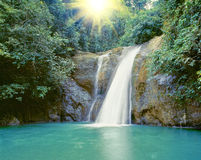 Waterfall near Iligan. Tropical waterfall near the City of Waterfalls, Iligan, Mindanao, Philippines Stock Photography