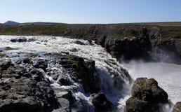 Waterfall near Kerlingarfjöll. In summer in Iceland royalty free stock photos