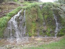 Waterfall near the monastery Serbia. Waterfall near the monastery. The Soko Monastery was settled at the foot of Soko Grad, on the slopes of the Sokol Mountains Royalty Free Stock Photography