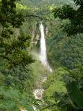 Waterfall near Soti Khola. One of the beautiful waterfalls on Manaslu trekking Stock Photography