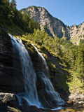 Waterfall near Thonon les Bains. Stock Image