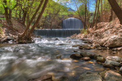 Waterfall near Trikala, Greece - spring picture Royalty Free Stock Photography