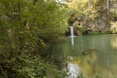 Waterfall. Near Veliko Tarnovo, Bulgaria Royalty Free Stock Image