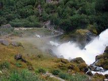 Waterfall neighborhood Briksdale, Norway Royalty Free Stock Images