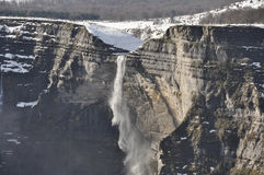 Waterfall in the Nervion river source, Spain Stock Photography