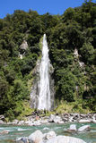 Waterfall in New Zealand Stock Image