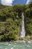 Waterfall in New Zealand Stock Image