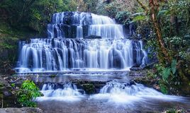 Waterfall in new Zealand Royalty Free Stock Photos
