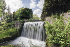 Waterfall in Newstead Abbey, Nottingham, England, UK stock photo