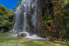 Waterfall in Nice France. Travel and nature background Stock Images
