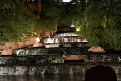 Waterfall at night Royalty Free Stock Images