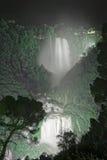 Waterfall at Night Stock Image