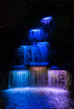 Waterfall Night Lights Royalty Free Stock Photography