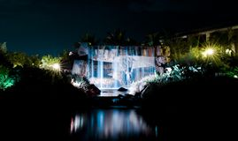 Waterfall at night2 Stock Images