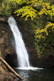 Waterfall in North Carolina in the Fall Royalty Free Stock Photo