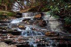 A waterfall in a North Carolina stream Stock Photo