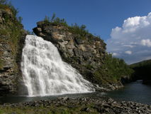 Waterfall in the north of Norway Stock Image