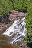 A Waterfall on the North Shore of Lake Superior Royalty Free Stock Image