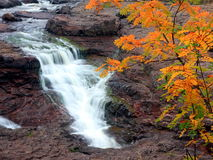 Waterfall on the north shore of Lake Superior Stock Images