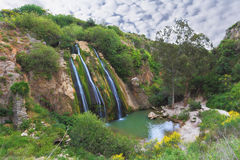 The waterfall in northern Israel Royalty Free Stock Photos