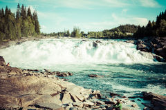 Waterfall in Northern Norway Royalty Free Stock Photos