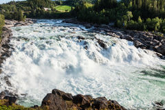 Waterfall in Northern Norway Royalty Free Stock Photo