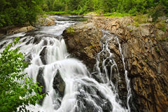 Waterfall in Northern Ontario, Canada Royalty Free Stock Images