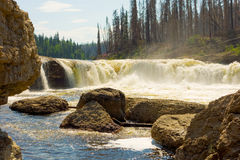 A waterfall in the northwest territories Stock Photos